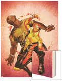 Shadowland: Power Man No.2 Cover: Power Man and Luke Cage Fighting Print by Mike Perkins