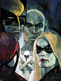 Moon Knight No.6 Cover: Ms. Marvel, Spider-Man, War Machine, Moon Knight, Luke Cage, and Wolverine Plastic Sign by Alex Maleev