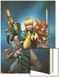 Guardians of the Galaxy 10 Cover: Star-Lord, Gamora, Angela Wood Print by Kevin Maguire