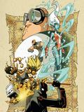 New Warriors No.3 Cover: Night Thrasher, Speedball, Namorita, Nova, Microbe and New Warriors Wall Decal by Skottie Young