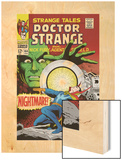 Strange Tales No.164 Cover: Dr. Strange and Yandroth Wood Print by Dan Adkins