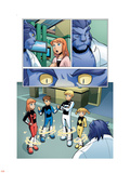 X-Men And Power Pack No.2 Group: Zero-G, Lightspeed, Mass Master, Energizer and Power Pack Plastic Sign by  Gurihiru