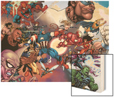 What If Civil War No.1 Group: Iron Fist Wood Print by Harvey Tolibao