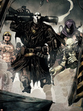 Secret Warriors No.7 Group: Scourge, Ghost, Headsman and Ant-Man Plastikschild von Alessandro Vitti