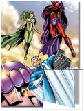 Civil War: House Of M No.2 Group: Magneto, Polaris and Quicksilver Prints by Andrea Di Vito
