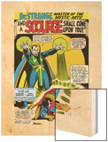 Strange Tales No.161 Cover: Dr. Strange and Baron Mordo Wood Print by Dan Adkins
