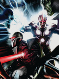 Nova No.17 Cover: Nova and Darkhawk Wall Decal by Francesco Mattina