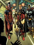 Annihilators: Earthfall No.1: Gladiator, Quasar, Beta-Ray Bill, and Cosmo Standing Together Plastic Sign by Tan Eng Huat