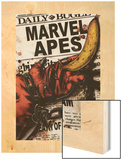 Marvel Apes 4 Cover: Marvel Universe Wood Print by John Watson