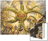 Invadors Now! No.4: Shuma-Gorath Righting Wood Print by Caio Reis