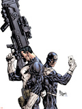 Punisher Vs. Bullseye No.1 Cover: Punisher and Bullseye Plastic Sign by Mike Deodato