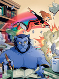 X-Men And Power Pack No.2 Cover: Beast and Lightspeed Plastic Sign by  Gurihiru