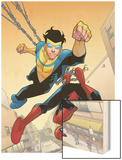 Marvel Team-Up 14 Cover: Spider-Man and Invincible Wood Print by Cory Walker