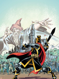 The Black Knight No.1 Cover: Black Knight Wall Decal by Ron Frenz