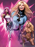 Women of Marvel No.2 Cover: Invisible Woman, Songbird, and Shanna the She-Devil  Walking Art by Greg Land