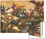 Ultimates No.3 Cover: Captain America Wood Print by Joe Madureira