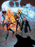 Ultimate Mystery No.4 Cover: Spider-Man, Spider Woman, Nick Fury, Human Torch, and Invisible Woman Posters by Humberto Ramos