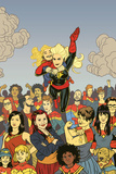 Captain Marvel 17 Cover: Captain Marvel Plastic Sign by Joe Quinones
