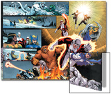 Chaos War: Alpha Flight No.1: Guardian, Sasquatch, Shaman, Northstar, Aurora, Marina, & Vindicator Art by Reilly Brown