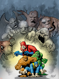 Marvel: Monsters On The Prowl No.1 Cover: Thing, Hulk, Beast and Giant Man Plastic Sign