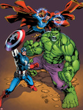 Marvel Adventures Super Heroes No.21 Cover: Captain America, Hulk, and Dr. Strange Posing Plastic Sign by Carlo Pagulayan