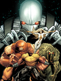 Thunderbolts No.151 Cover: Luke Cage, Juggernaut, Moonstone, Man-Thing, and Ghost Posing Plastic Sign by Greg Land