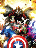 Guardians Of The Galaxy No.7 Cover: Rocket Raccoon, Major Victory and Bug Wall Decal by Clint Langley