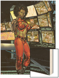 Villains For Hire No.1: Misty Knight Wood Print by Renato Arlem