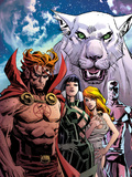Chaos War: God Squad No.1 Cover: Hellstrom, Sersi, Venus, and Silver Surfer Posing Prints by Dan Panosian