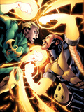 Shadowland: Power-Man No.4: Iron Fist and Power Man Fighting Plastic Sign by Mahmud A. Asrar