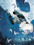 Moon Knight No.8 Cover - Moon Knight Jumping Plastic Sign by Alex Maleev