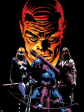 What If Dark Reign No.1 Cover: Mockingbird, Hawkeye, and Norman Osborn Posing Plastic Sign by Mike Deodato