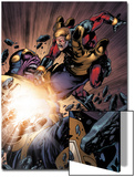 The Thanos Imperative No.5: Captain America and Thanos Fighting Prints by Miguel Angel Sepulveda