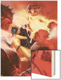 Marvel Divas No.4 Cover: Hellcat, Black Cat, Firestar and Photon Wood Print