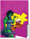 Howard The Duck No.3 Cover: She-Hulk and Howard The Duck Fighting Prints by Juan Bobillo