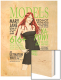 Models, Inc. No.3 Cover: Watson and Mary Jane Wood Print by Scott Clark