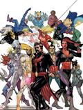 Defenders: Strange Heroes No.1 Cover: Dr. Strange, Red She-Hulk, Iron Fist, Silver Surfer & Others Plastskyltar av Leinil Francis Yu
