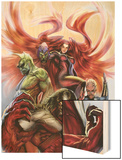 Secret Invasion: Inhumans No.3 Cover: Medusa, Gorgon, Karnak and Triton Wood Print by Stjepan Sejic