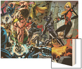 Realm of Kings Inhumans No.2 Group: Wasp, Hercules, U.S. Agent, Vision and Stature Wood Print by Pablo Raimondi