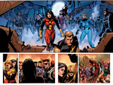 Secret Invasion No.8 Group: Spider Woman, Invisible Woman, Pym and Hank Prints by Leinil Francis Yu