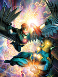 Nova No.31 Cover: Darkhawk and Nova Plastic Sign by Brandon Peterson