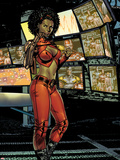 Villains For Hire No.1: Misty Knight Plastic Sign by Renato Arlem