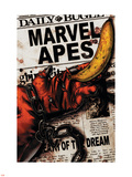 Marvel Apes 4 Cover: Marvel Universe Plastic Sign by John Watson