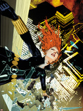 Black Widow No.7 Cover: Black Widow Falling Plastic Sign by Travel Foreman