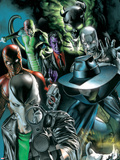 Villains For Hire No.1 Cover: Death Stalker, Scourge, Shocker, Avalanche, and Purple Man Wall Decal by Rodolfo Migliari