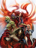 Secret Invasion: Inhumans No.3 Cover: Medusa, Gorgon, Karnak and Triton Plastic Sign by Stjepan Sejic