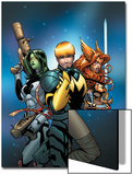 Guardians of the Galaxy 10 Cover: Star-Lord, Gamora, Angela Poster by Kevin Maguire