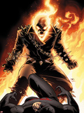Shadowland No.5 Cover: Ghost Rider and Daredevil Fighting Plastic Sign by John Cassaday