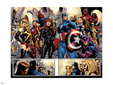 Fear Itself No.7: Ms. Marvel, Iron Fist, Iron Man, Spider-Man, Captain America and Others Plastic Sign by Stuart Immonen