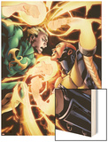 Shadowland: Power-Man No.4: Iron Fist and Power Man Fighting Wood Print by Mahmud A. Asrar